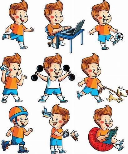 Hobbies Hobby Clipart Boy Activities Physical Vector