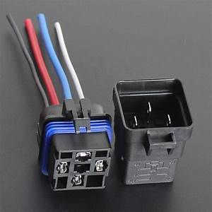 Car Truck 12v 40a Spst Relay Socket Plug 4pin 4 Wire