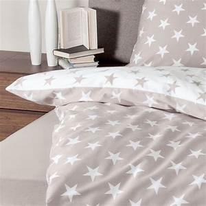 Biber Bettwäsche Sterne : janine biber bettw sche sterne taupe g nstig online kaufen bei bettwaren shop ~ Watch28wear.com Haus und Dekorationen