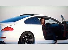HD Hintergrundbilder bmw m6 e63 sportwagen weiß mädchen