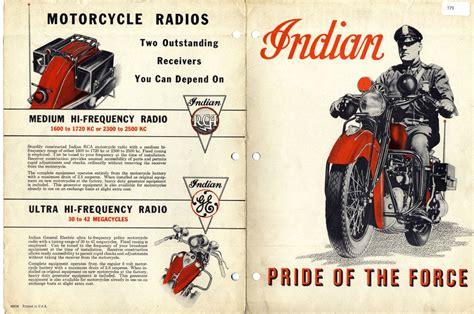 Vintage Police Motorcycle Ad
