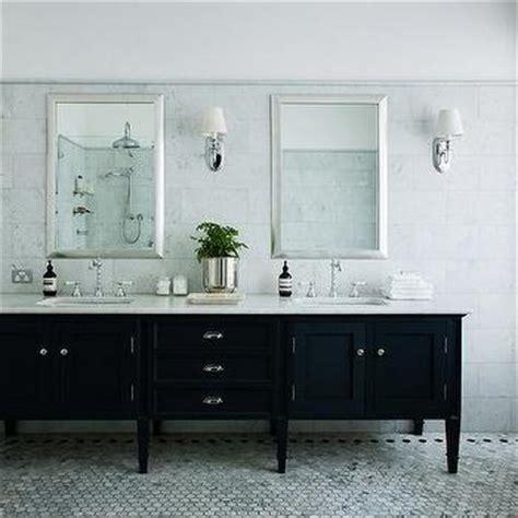 black vanity bathroom ideas contrasting marble border design ideas