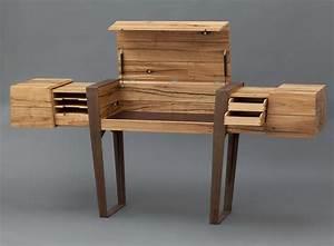 Design Sekretär Modern : sekret r wood beam desk by simon schacht homeli ~ Sanjose-hotels-ca.com Haus und Dekorationen