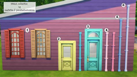 windows doors and more my sims 4 windows doors and more build recolors by