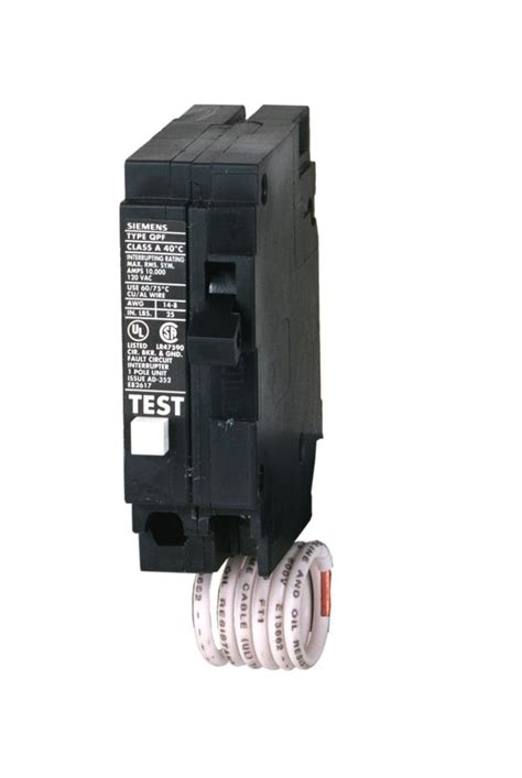 gfci circuit breaker siemens qf120 20 amp 1 pole 120 volt ground fault circuit interrupter circuit breakers