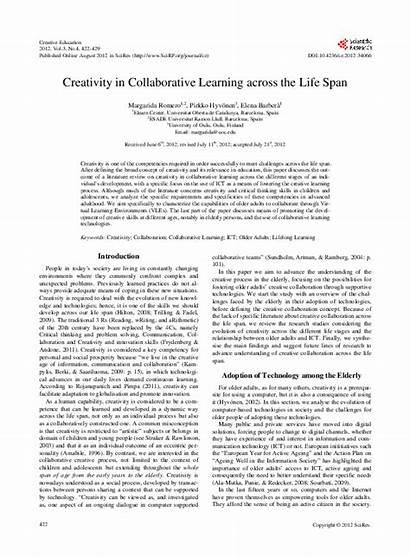 Span Collaborative Creativity Across Learning Academia