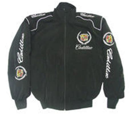 race car jackets cadillac racing jacket black