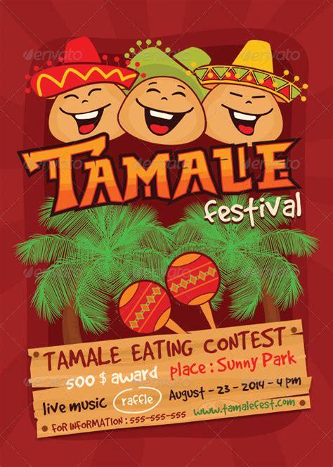 tamale festival flyer template  ragerabbit graphicriver