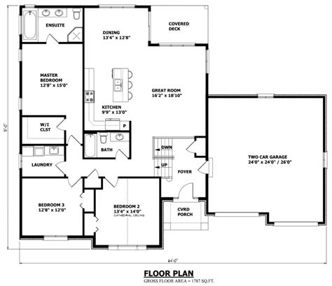 bungalow floor plan raised bungalow house plans canada stock custom house