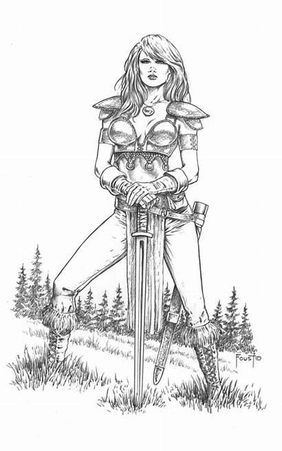 Deviantart Mylene Female Knight Warrior Mitchfoust Coloring