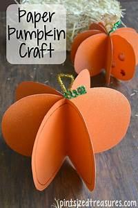 Easy, Paper, Pumpkin, Craft, U00b7, Pint