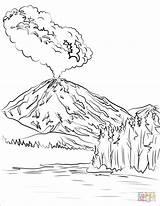 Eruption Vulcano sketch template