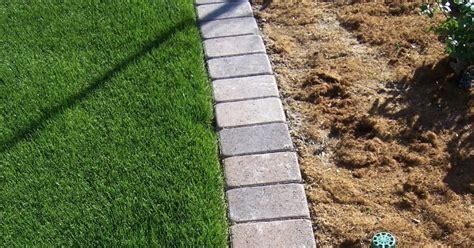 mow lawn edging the 2 minute gardener photo paver mow strip