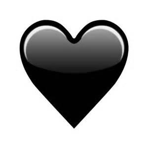 Black and White Heart Emoji