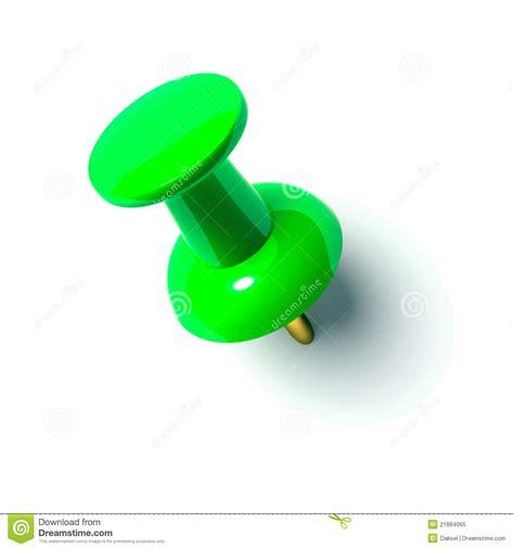 punaise bureau green pushpin royalty free stock photo image 21884065