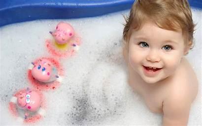Wallpapers Babies Bathing Bathroom Sleeping
