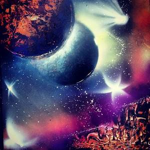 Space painting spray paint