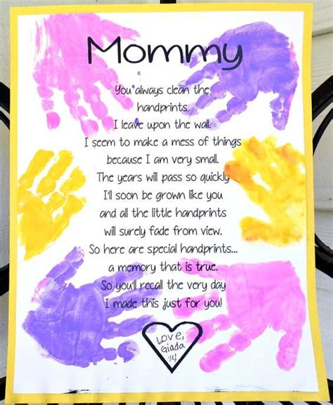 mothers day craft ideas  preschoolers homesthetics