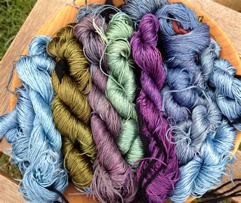 natural dyes silk yarn  embroidery natural dyes