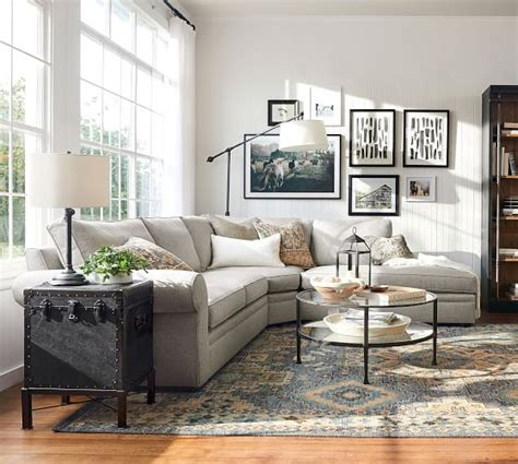 pearce roll arm upholstered  piece bumper sectional