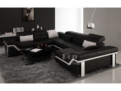 promotion canape d angle canapé d 39 angle cuir panoramique design torino xl pop