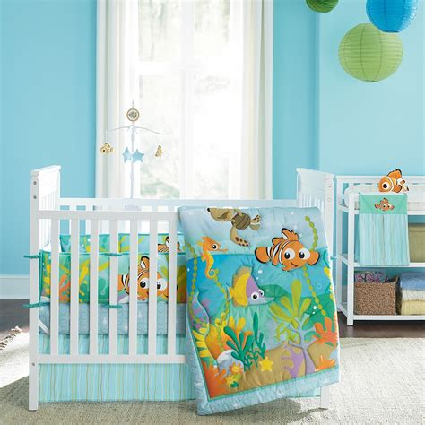 finding nemo toddler bedding nemo s reef 4 crib bedding set disney baby