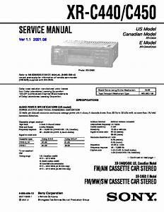 Sony Xr-p600c Service Manual