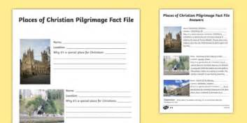 Places of Christian Pilgrimage Fact File Writing Frames ...