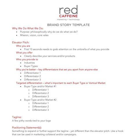 brand story template brand story template red caffeine pdf docdroid