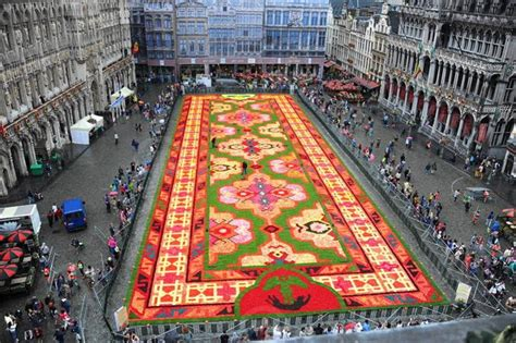bruxelles tapis turc de fleurs sur la grand place
