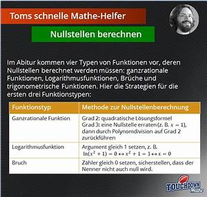 Nullstelle Berechnen Quadratische Funktion : news touchdown mathe ~ Themetempest.com Abrechnung