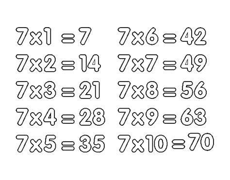 la table de 7 multiplication meilleures ventes boutique