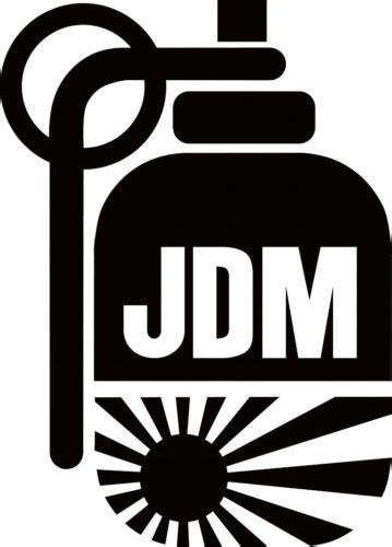 jdm hand grenade japanese flag racing vinyl car decal