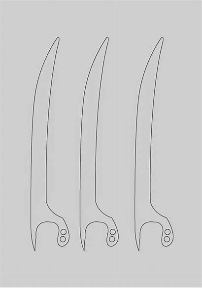 Wolverine Claws Diy Cardboard Dali Template Paper