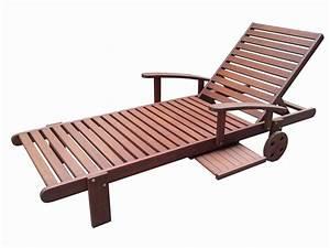 Bain De Soleil En Bois : bain de soleil en bois exotique s oul mahogany marron acajou avec roulette 1 plateau ~ Teatrodelosmanantiales.com Idées de Décoration