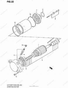 Suzuki Atv 1999 Oem Parts Diagram For Starting Motor  Model X