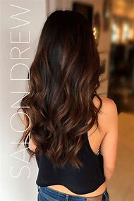 Black Hair with Dark Brown Ombre