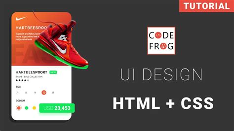 ui design tutorial product card html css speed coding