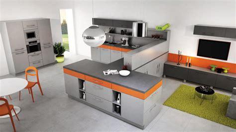 cuisine orange et grise