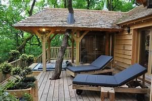 Constructeur Cabane Dans Les Arbres : cabane spa sauna puybeton nidperch constructeur de cabane ~ Dallasstarsshop.com Idées de Décoration