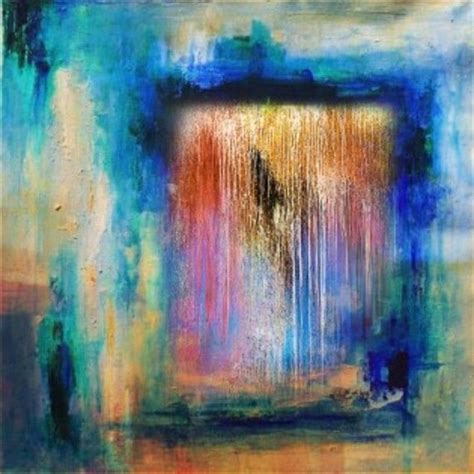 Abstract Painting Showing Colorful Water Falls By