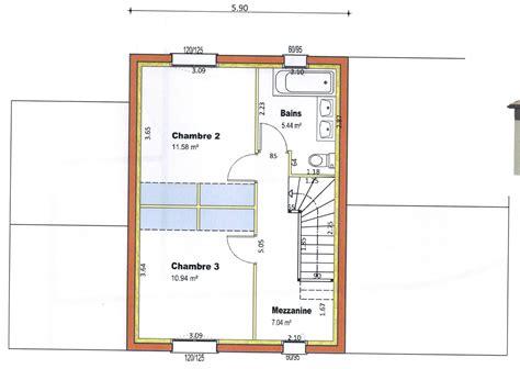 plan de maison à étage 4 chambres plan maison etage 2 chambres plan 2 de la maison