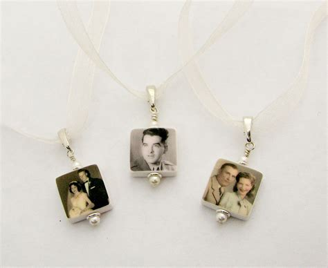 3 bridal bouquet charms memorial photo charms bc4x3 etsy