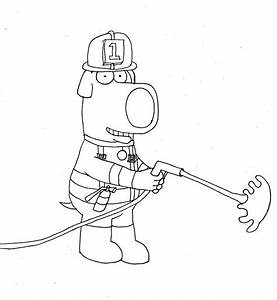 Firefighter Brian Uncolored By Whitesofttail On Deviantart