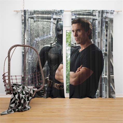 Dark Knight Rises Film Star Christian Bale Curtain Super