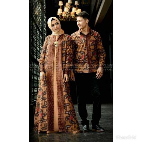 jual baju couple batik jumbo sarimbit gamis xxl pakaian