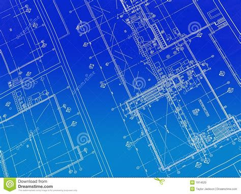 Printed Blueprint Stock Photo. Image Of Drawings, Drafting