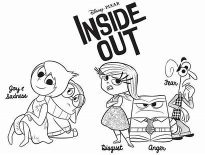 Inside Coloring Pages Printable Fear Disney Disgust
