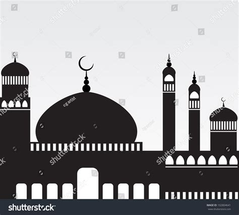 creative mosque silhouette jpeg version  stock