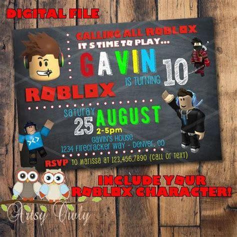 roblox birthday invitation   character